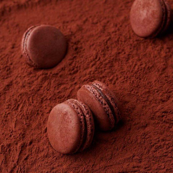 photographe culinaire macaron chocolat