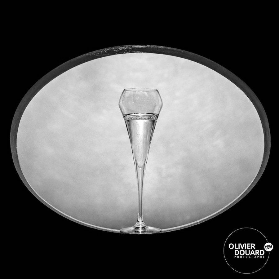Photographe flute de champagne